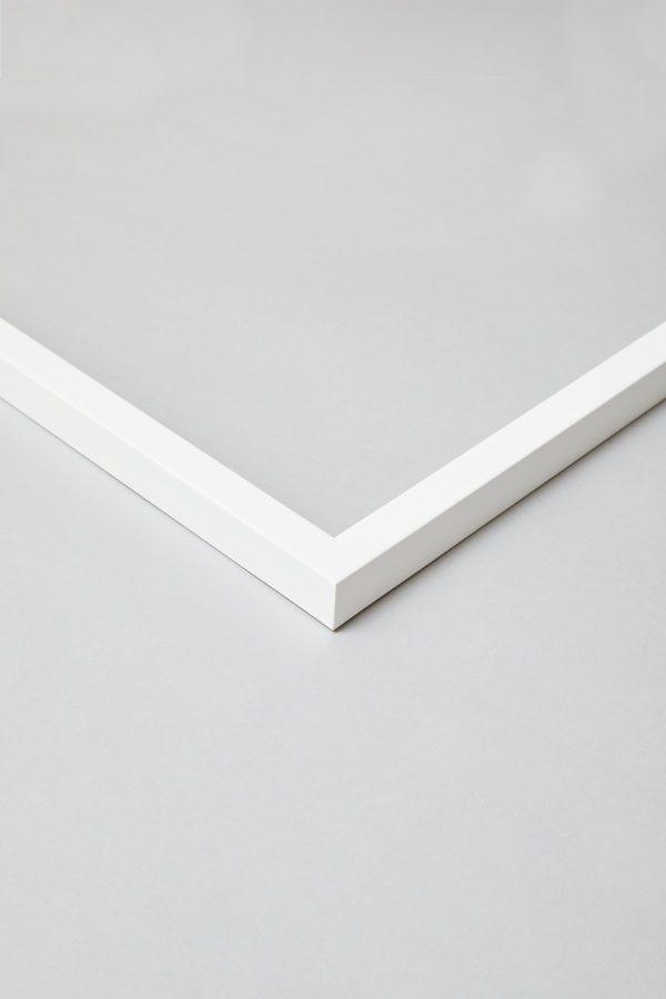 White Slim Profile Frame 3